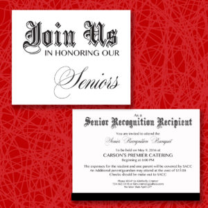 Senior Banquet Invitations