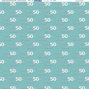 50th birthday scrapbook paper