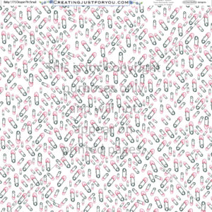 diaper pin scrapbook paper