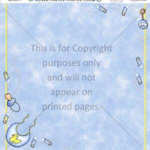 baby scrapbook paper
