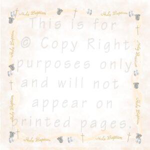 baptism scrapbook paper