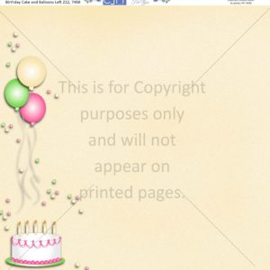 birthday cake scrapbook paper