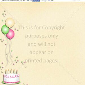 birthday cake scrapbook paper
