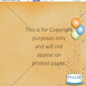 birthday cake & balloons scrapbook paper