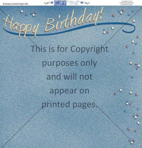 birthday party scrapbook paper