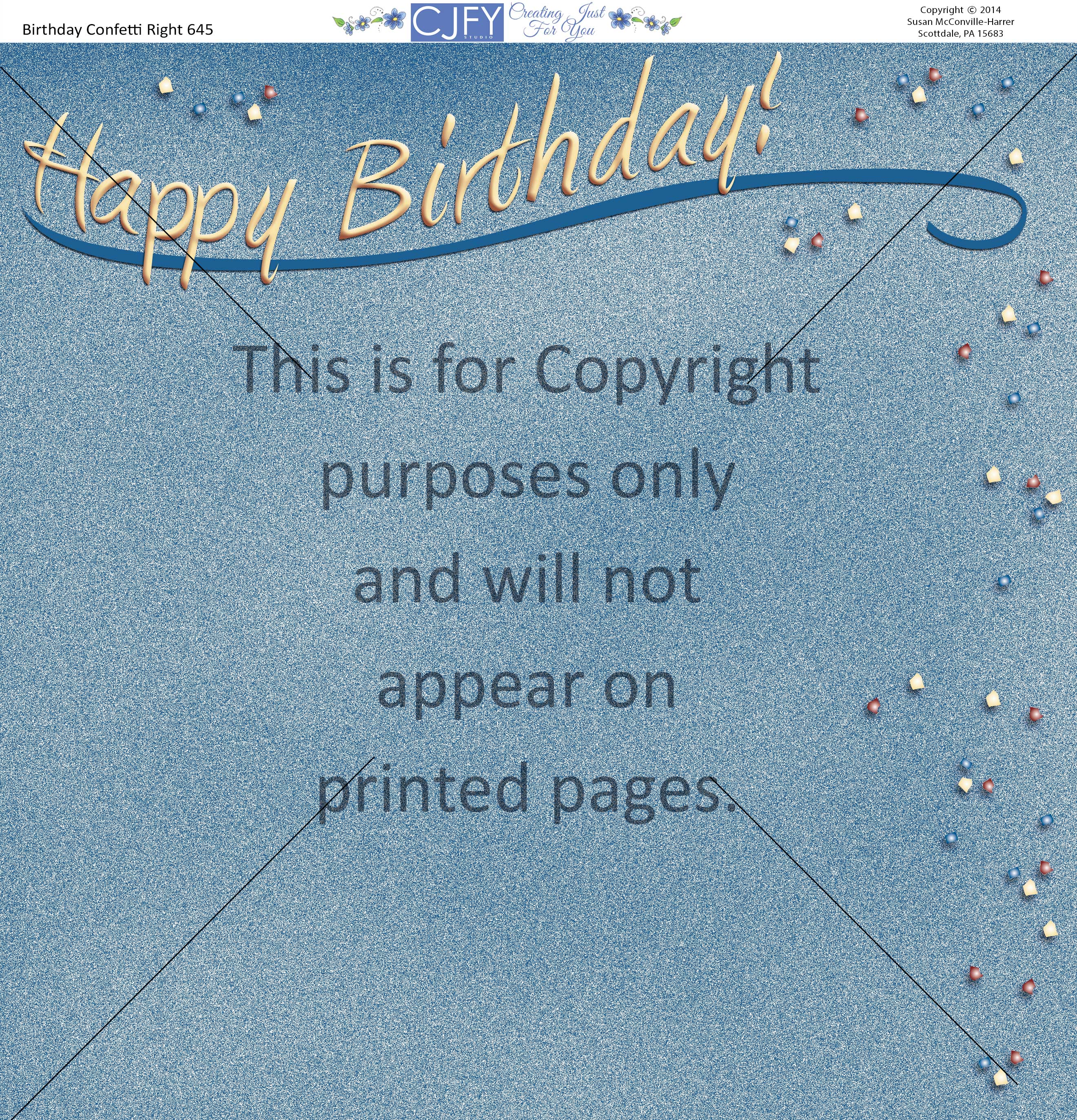 birthday party scrapbook paper