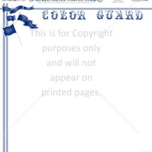 Color Guard Scrapbook Paper