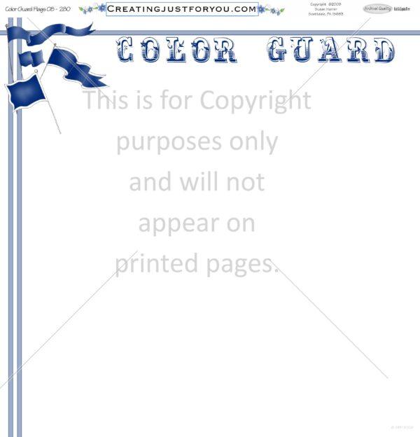 Color Guard Scrapbook Paper