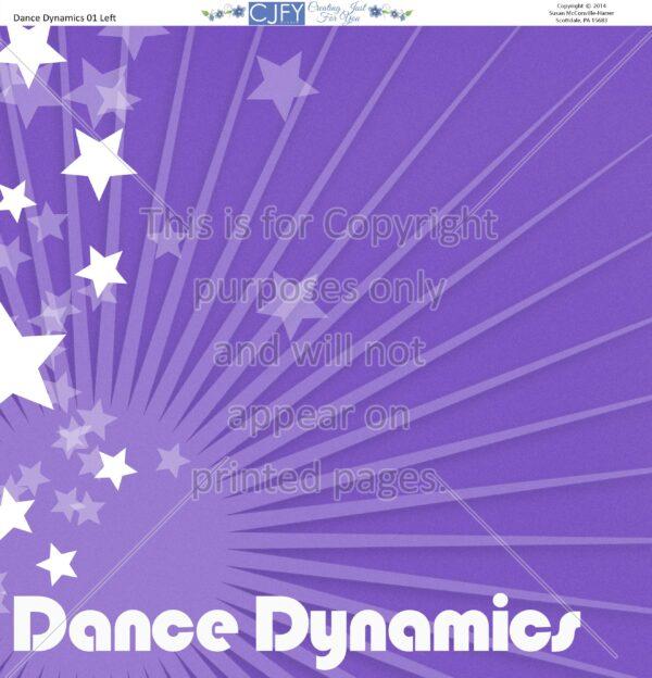 Dance, Scrapbook Paper