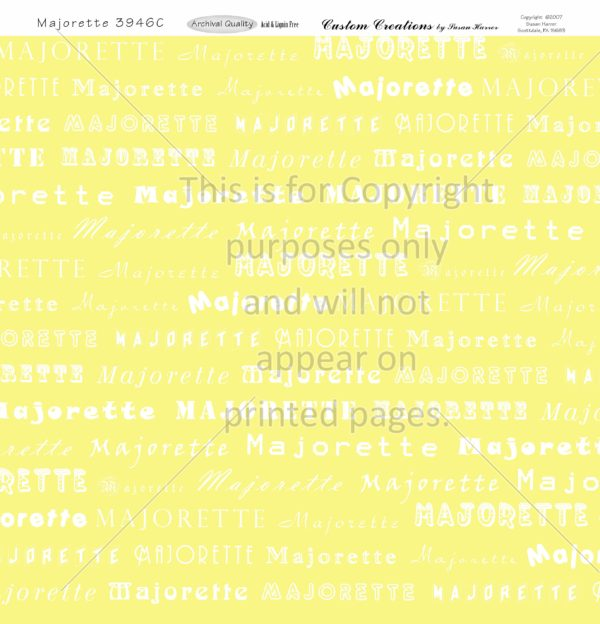 Majorette,Scrapbook Paper