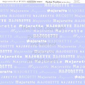 Majorette-Blue, Scrapbook Paper