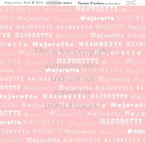 Majorette, Scrapbook Paper