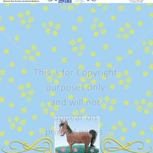 Scrapbook Paper,Animals, Horses