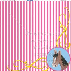 Scrapbook Paper,Animals, Outdoors, Horses