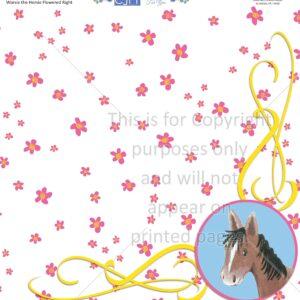 Scrapbook Paper, Outdoors, Animals, Horses