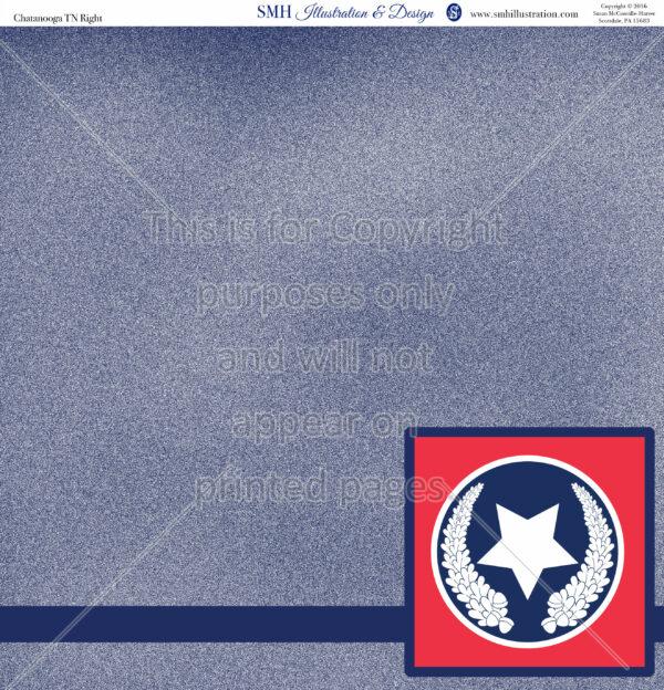 Chattanooga TN Scrapbook Paper