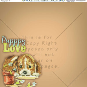 Scapbook Paper,Puppy, Animals