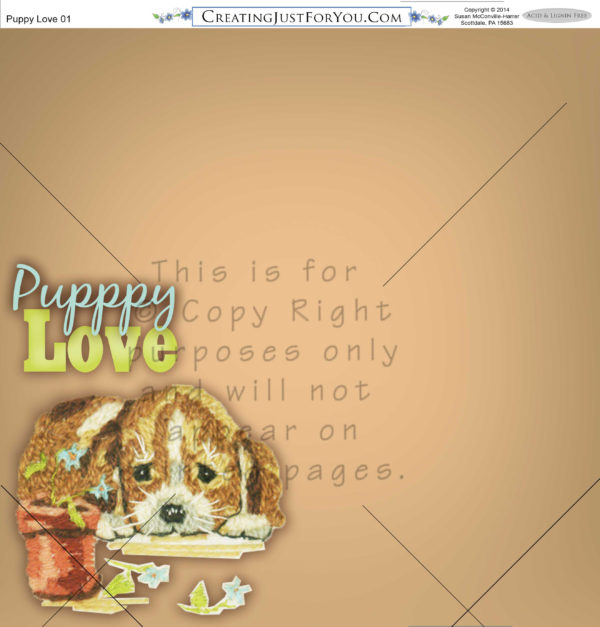 Scapbook Paper,Puppy, Animals