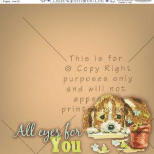Scrapbook Paper,animals, Puppy
