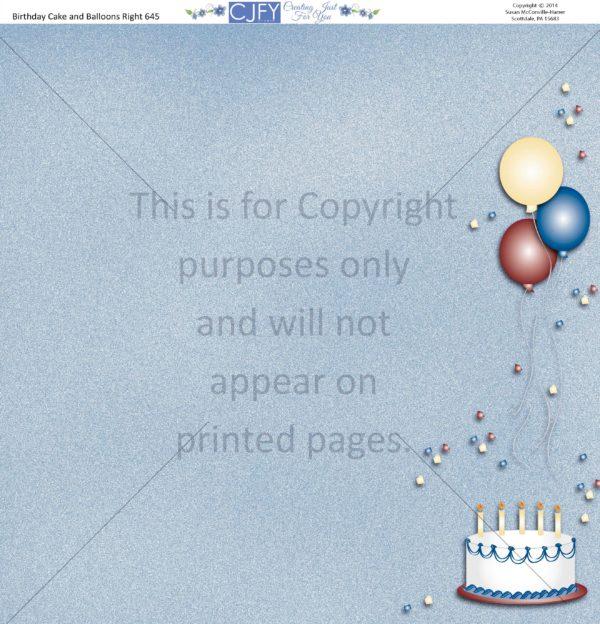 birthday scrapbook paper
