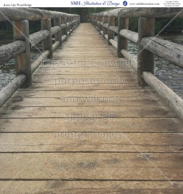 wooden bridge, jenny lake, wy