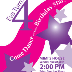 Dancing with the Stars Birthday Invitations
