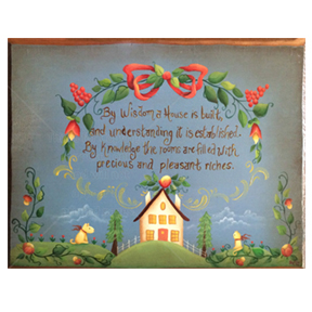 Proverbs 24:3 Painted in Acrylics