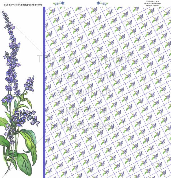 Blue Salvia Scrapbook Paper