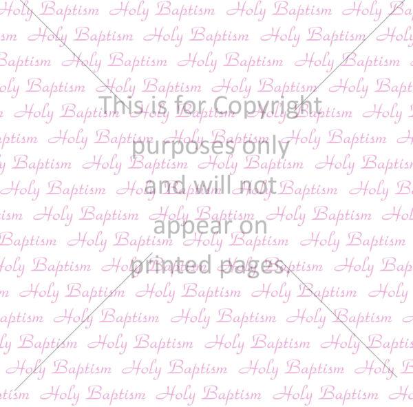 Baby Baptism Scrapbook Paper