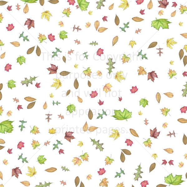 fall leaves falling scrapbook paper