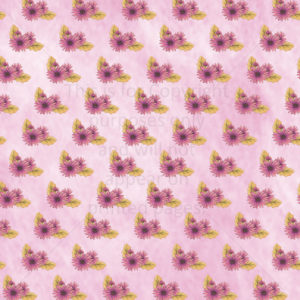 Gerbera Daisy Scrapbook Paper