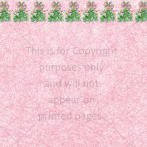 Christmas Mistletoe Scrapbook Paper