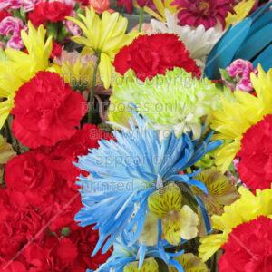 Mixed Flower Bouquet Scrapbook Paper
