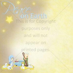 Christmas Nativity Scrapbook Paper