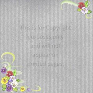 Pansy Scrapbook Paper