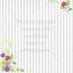 Pansy Scrapbook Paper