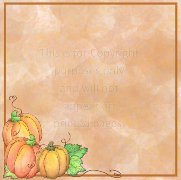 pumpkin scrapbook paper