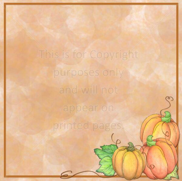 pumpkins scrapbook paper