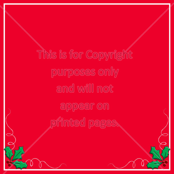 Christmas Holly Scrapbook Paper