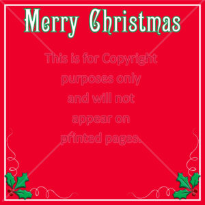 Holly Christmas Scrapbook Paper