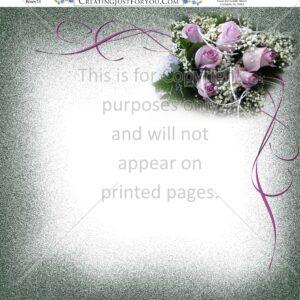Rose Scrapbook Paper