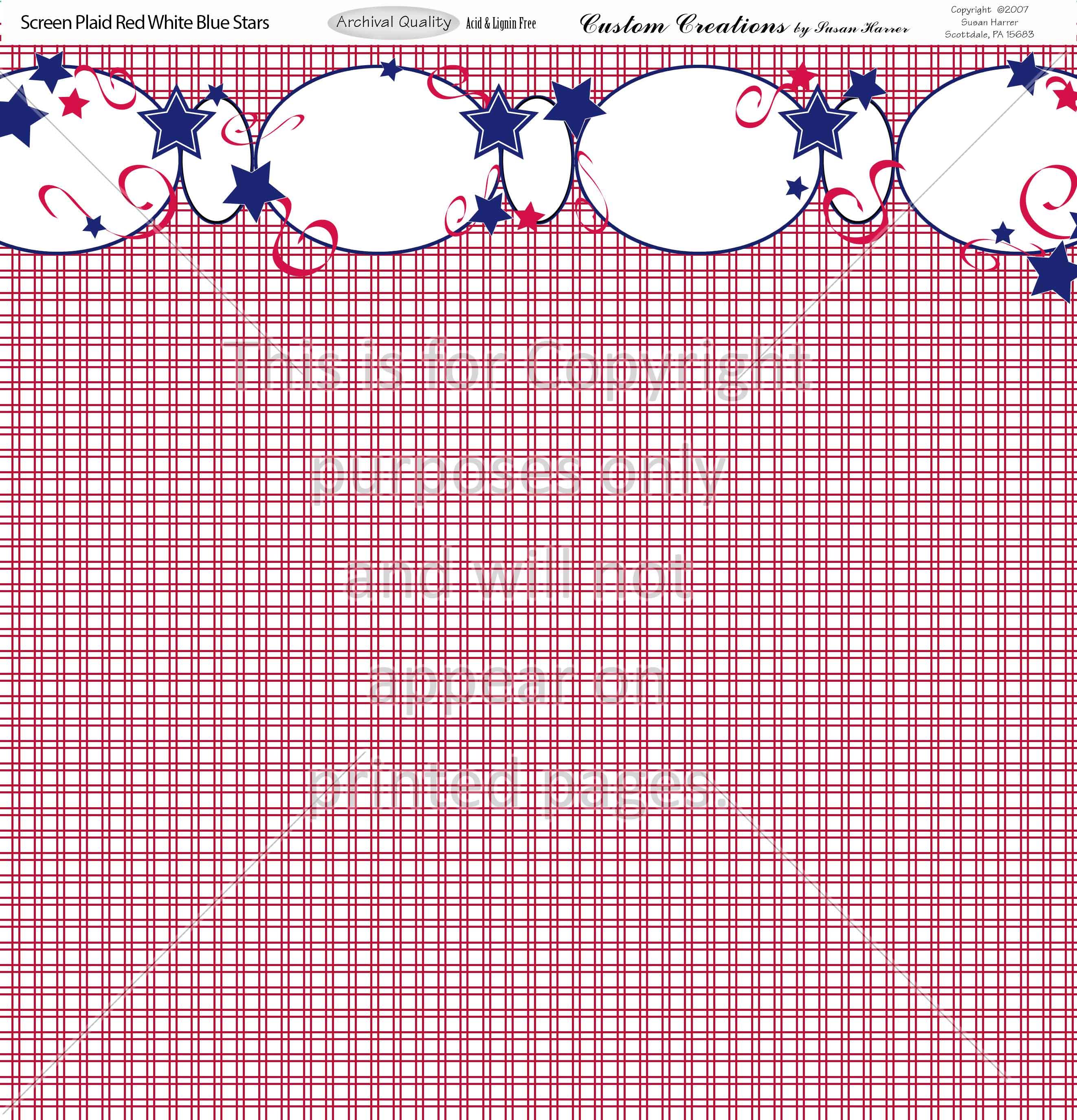 Screen Plaid Red White Blue Stars Smh Illustration Design