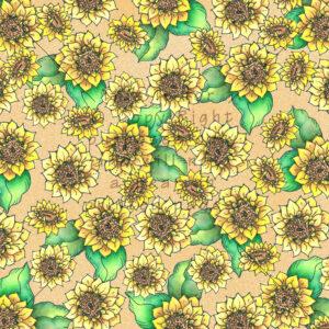 Sunflower Scrapbook Paper