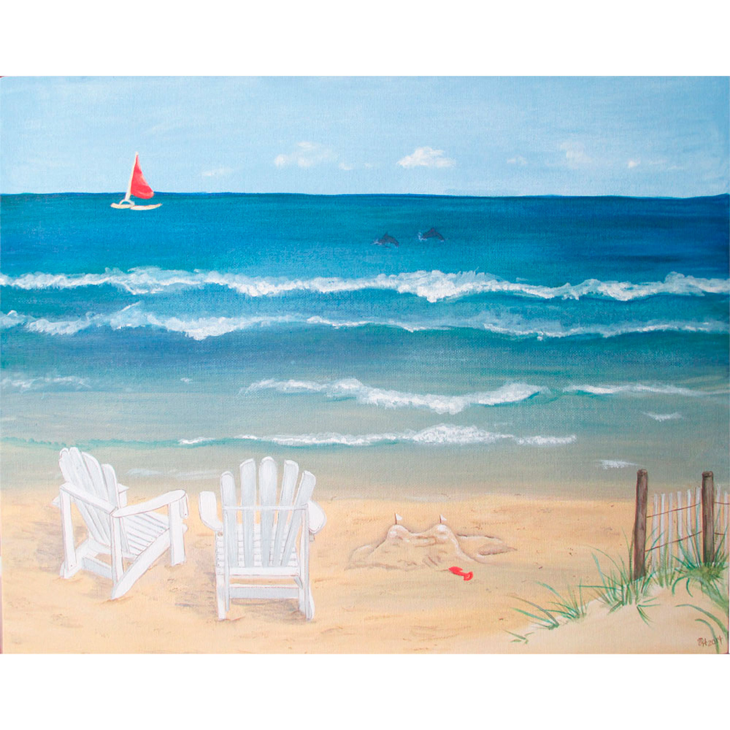Painted Beach Picture of Hilton Head Island
