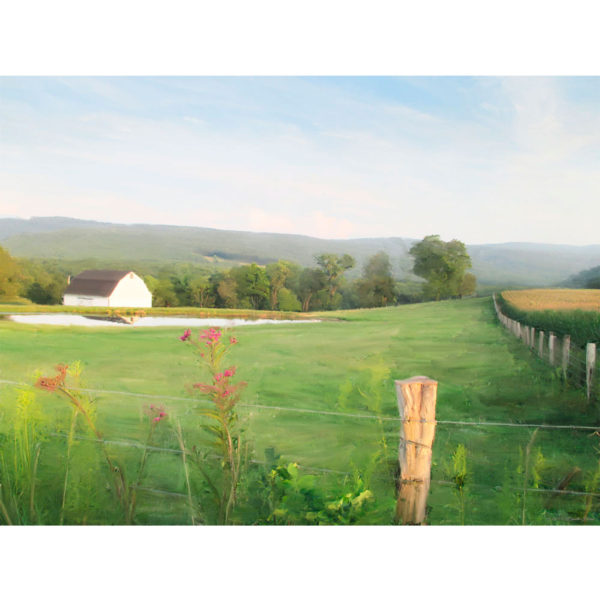 Digital Painting of Farm in Maryland, USA