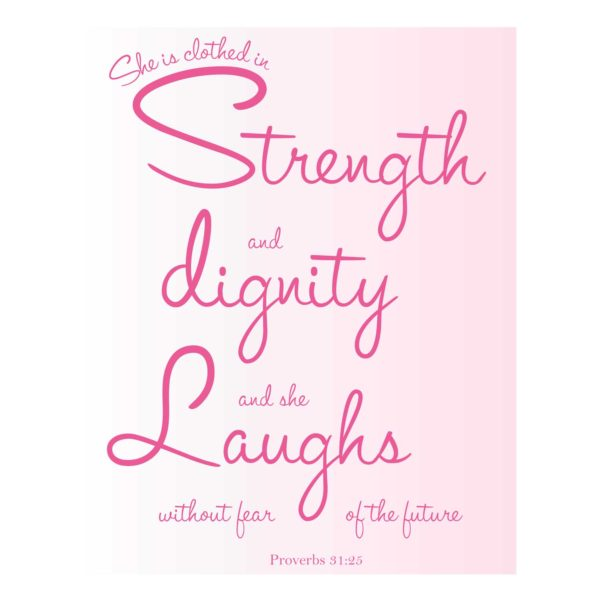 Proverbs 31:25 Typography