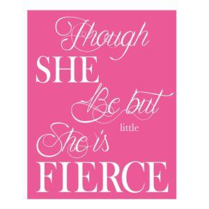 girls typography print