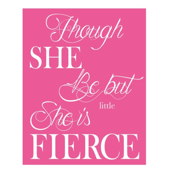 girls typography print