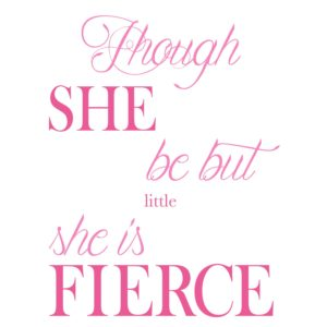 Though She Be typography