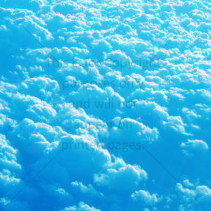 Clouds Scrapbook Paper